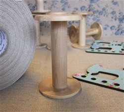 Hand Turned Wooden Bobbin 8cm
