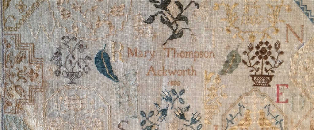 Inspired by Ackworth School Samplers