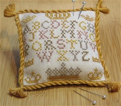 Alphabet and Crown Pincushion