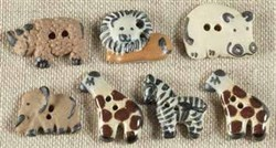 Wild Animal Buttons