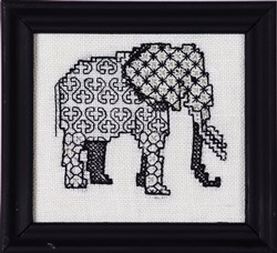 Blackwork Beasts - Elephant