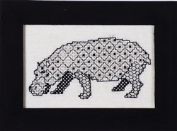 Blackwork Beasts - Hippo