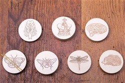 Faux Ivory Needle Tokens