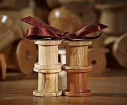 Little Hand Turned Oak Bobbins