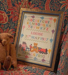 Toy and Kite Birth Sampler