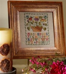 Learning on Linen - Flower Pot Sampler