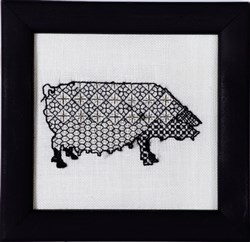 Blackwork Beasts - Pig