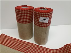 Red Gingham Linen Band
