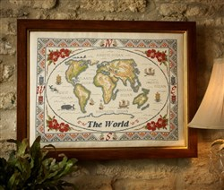 The Antique Map of the World