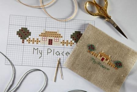 How To Stitch On Linen Cross Stitching On Lined The Cross Stitch