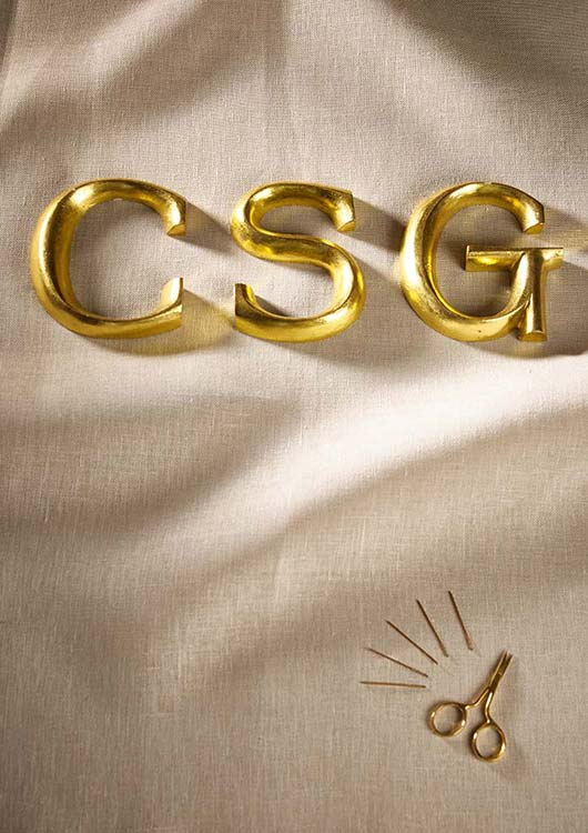 CSG logo on fabric